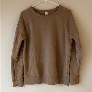 Mocha Brown Crew Neck Sweatshirt